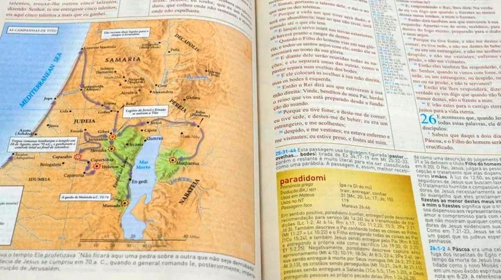 Bíblia de Estudo King James 1611 com Estudo Holman